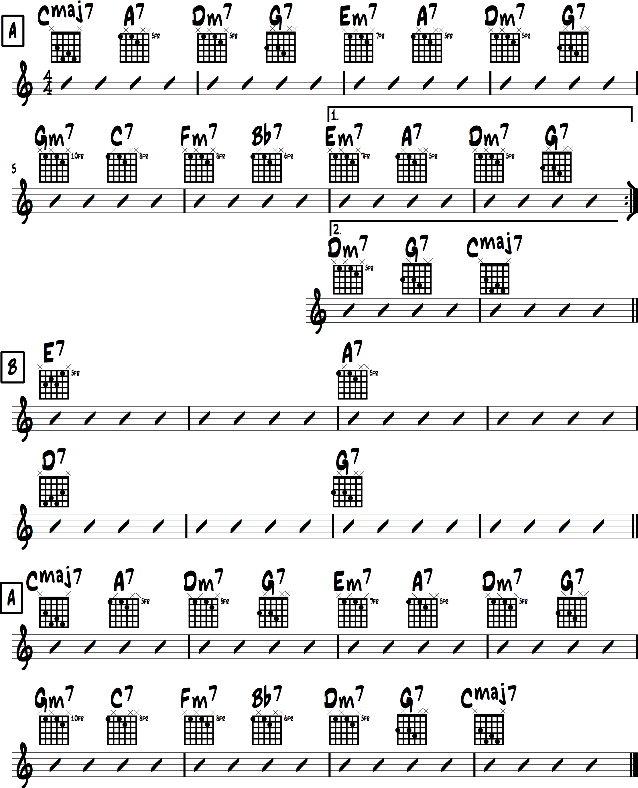 Jazz Chord Progressions 6